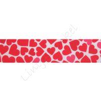 Lint harten 22mm - Mix Wit Rood Pink