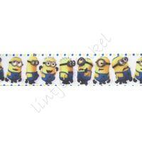 Lint Cartoon 22mm - Minions Geel Blauw Stip