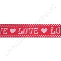 Lint harten 25mm - Love Rood