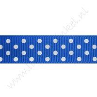 Stippenlint 16mm - Donker Blauw Wit