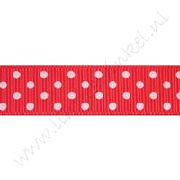 Stippenlint 16mm - Rood Wit