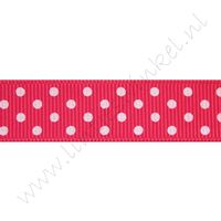 Stippenlint 16mm - Shocking Pink Wit