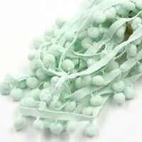 Pompom band 10mm (afmeting bolletje) - Mint