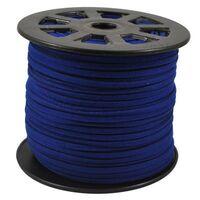 Suedekoord 3mm - Donker Blauw (imitatie)