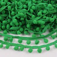 Pompom band 10mm (afmeting bolletje) - Groen