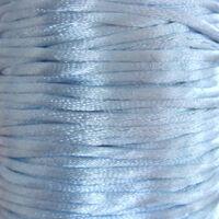 Satijnkoord 2mm - Licht Blauw (25)