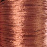 Satijnkoord 2mm - Chocolade Bruin (30)
