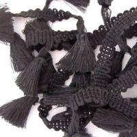 Tasselband 38mm - Zwart