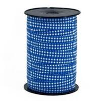 Krullint 10mm - Ruit Donker Blauw