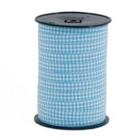Krullint 10mm - Ruit Licht Blauw