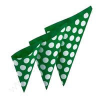 Papieren puntzakje 21x29,5 cm - Polka Groen Wit
