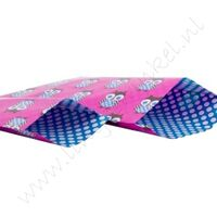 Papieren zakje 12x19 cm - Uiltje Pink Blauw