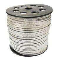 Suedekoord 3mm - Zilver (imitatie)
