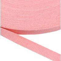 Keperband 10mm (100% katoen) - Roze