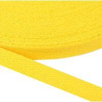 Keperband 10mm (100% katoen) - Geel