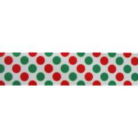 Stippenlint Groot Mix 22mm - Wit Rood Groen