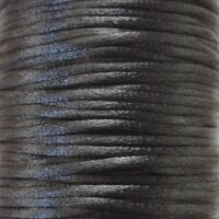Satijnkoord 2mm - Zwart (02)