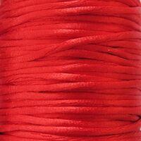 Satijnkoord 2mm - Rood (04)