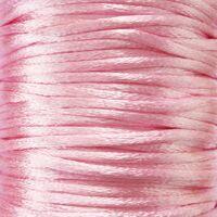 Satijnkoord 2mm - Licht Roze (20)