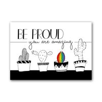 Zwart Wit Kaart - Be Proud, You are Amazing