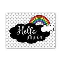 Zwart Wit Kaart - Hello Little One