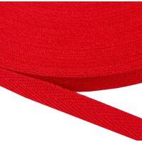 Keperband 10mm (100% katoen) - Rood