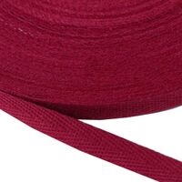 Keperband 10mm (100% katoen) - Bordeaux Rood
