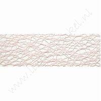 Crispy (net) lint 30mm (rol 10 meter) - Licht Roze