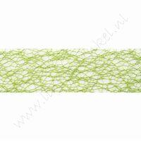 Crispy (net) lint 30mm (rol 10 meter) - Appelgroen