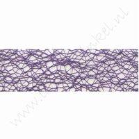 Crispy (net) lint 30mm (rol 10 meter) - Paars