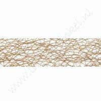 Crispy (net) lint 30mm (rol 10 meter) - Bruin